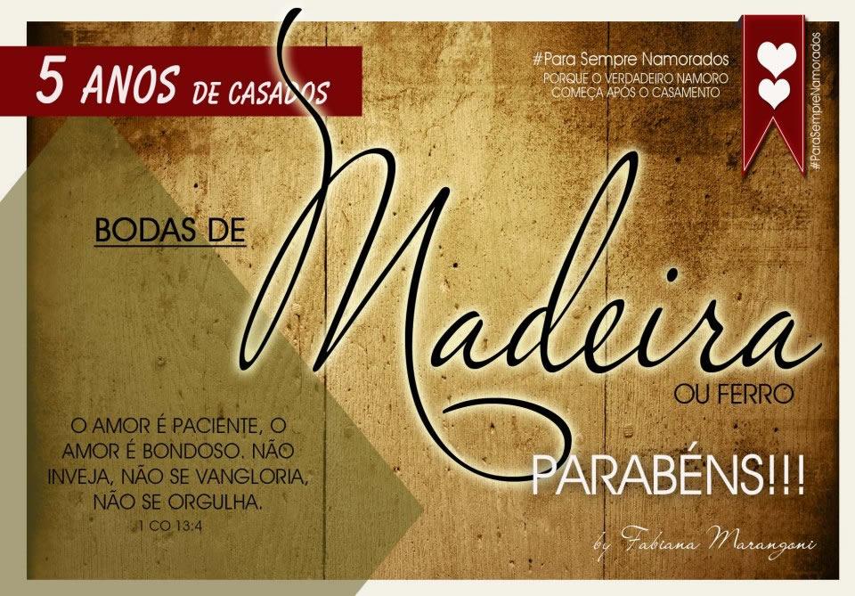 Bodas de Madeira, 5 anos de casamento